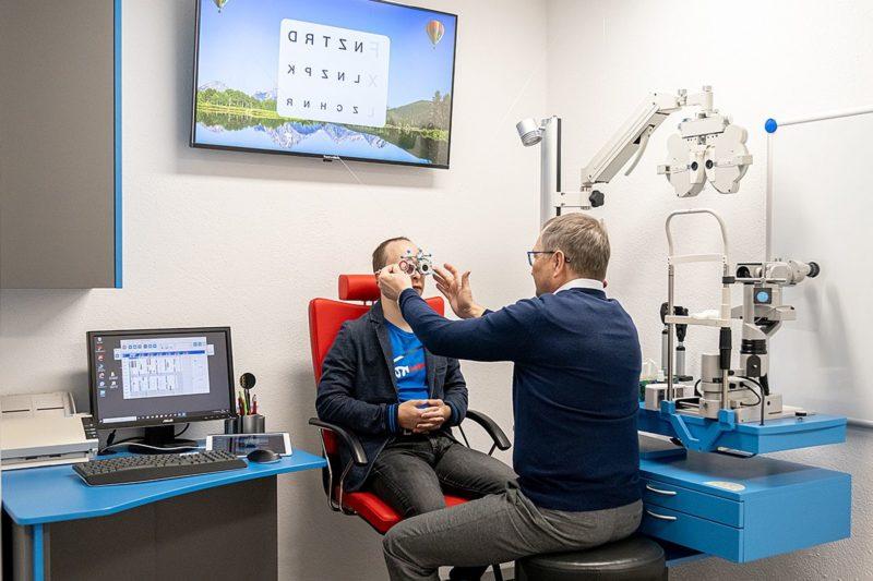 Erlebnisrefraktion 3D Sehtest Brillenstudio Hahn