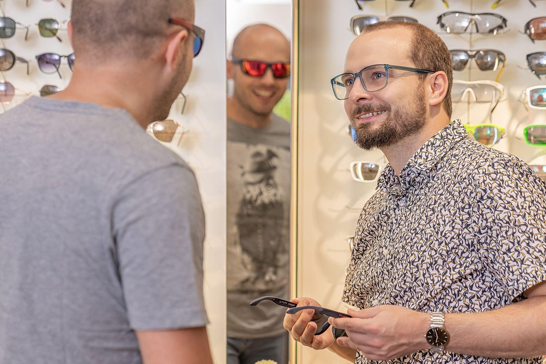 Sportbrille im Brillenstudio Hahn