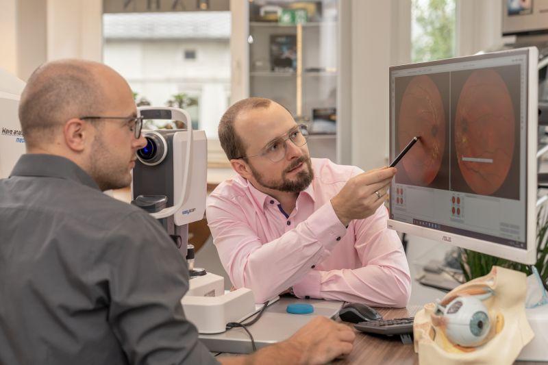 Netzhaut Analyse Brillenstudio Hahn
