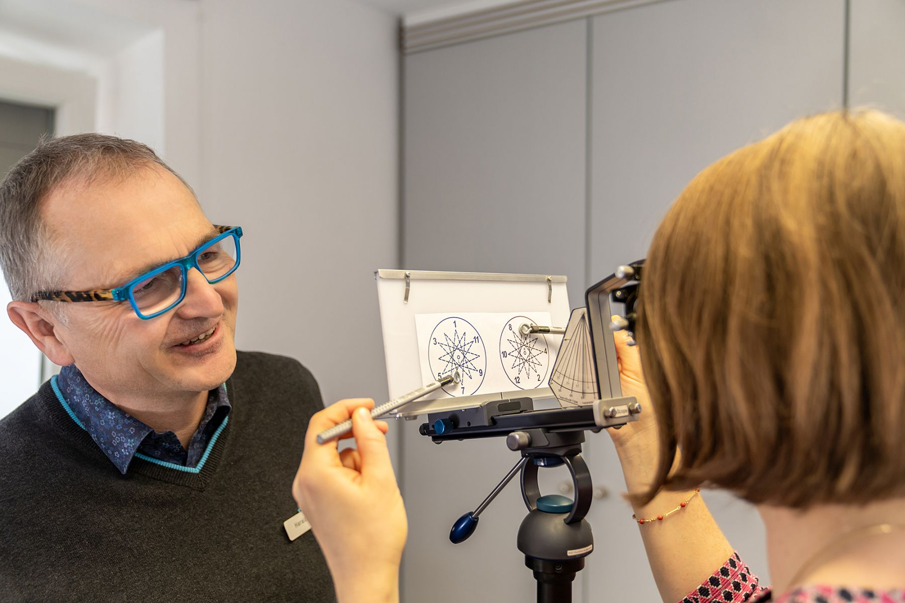 Visualtraining im Brillenstudio Hahn